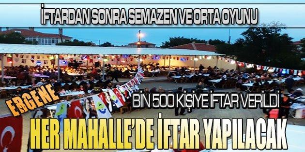 Ergene Belediyesi her mahallede iftar programları düzenleyecek