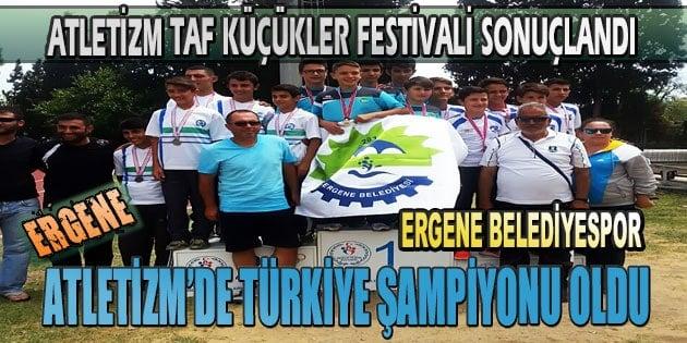 Ergene Belediyespor Atletizm´de Türkiye Şampiyonu Oldu