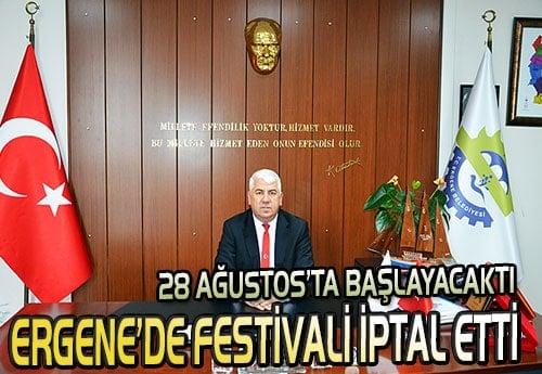 Ergene'de bu yıl festival yapılmayacak