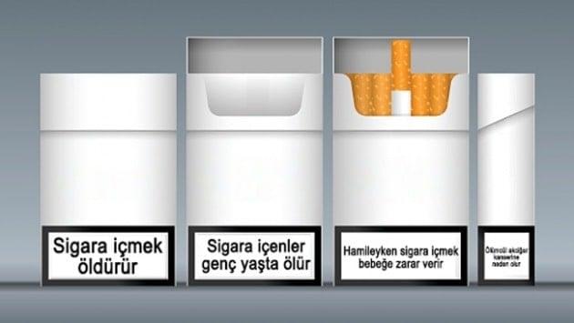 """Sigara """"düz pakete"""" girip tezgah altına iniyor"""