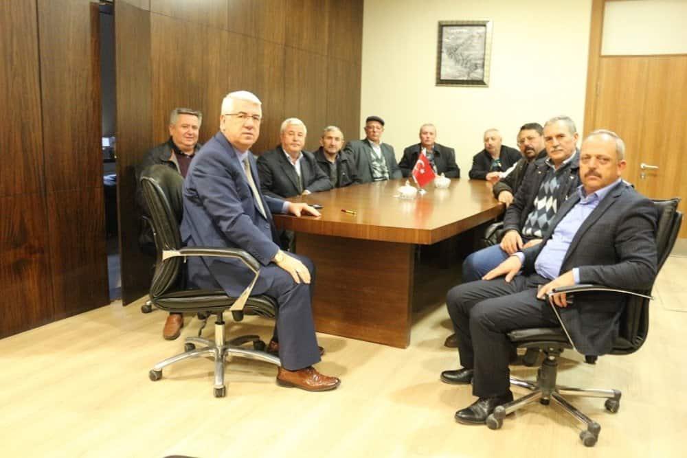 Ergene Başkanı Rasim Yüksel'e sürpriz ziyaret