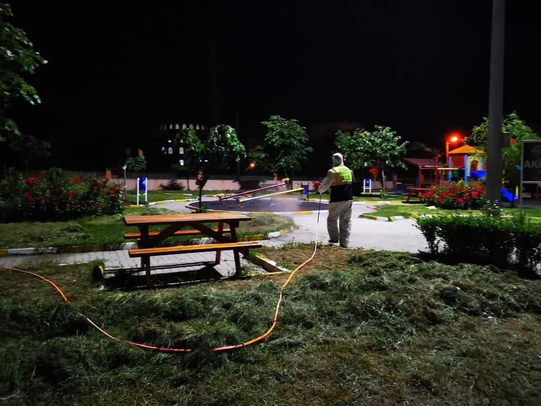 Ergene'de Çocuk Oyun Parkları ve Dinlenme Alanları Dezenfekte Edildi