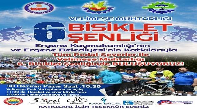 Tekirdağ'daki Bisiklet Tutkunları Ergene'de Buluşuyor