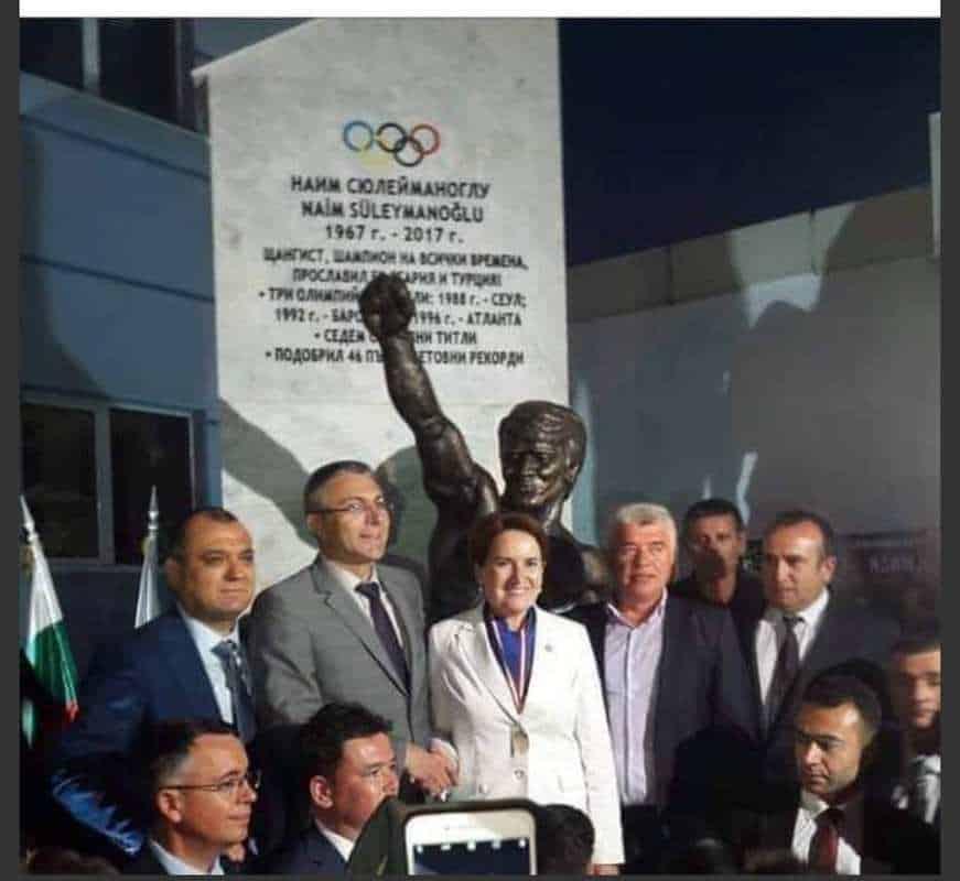 Naim Süleymanoğlu Anısına Bulgaristan'da Anıt dikildi