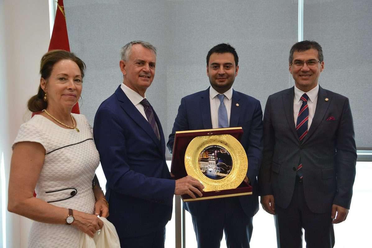 Kanada Türkiye Büyükelçisi Chris Cooter, Çorlu TSO'yu Ziyaret Etti
