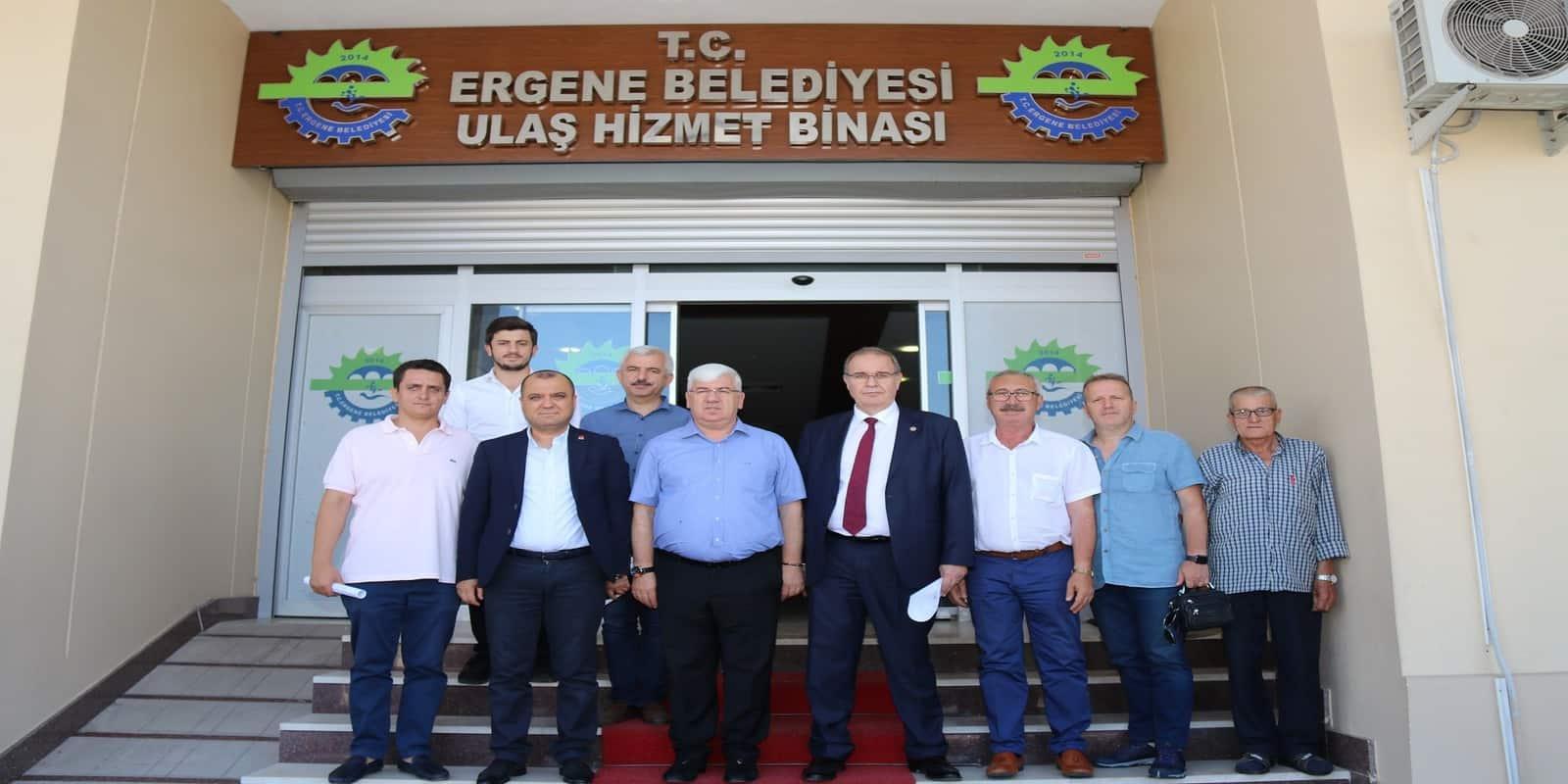 CHP Genel Başkan Yardımcısı Öztrak ve Vekil Aygun Başkan Yüksel'i Ziyaret Etti