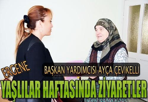 Ayça Çevikelli'den yaşlılara ziyaret