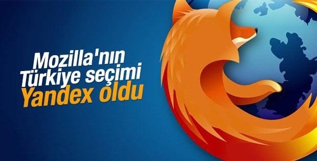 Mozilla Türkiye'de Yandex'i seçti